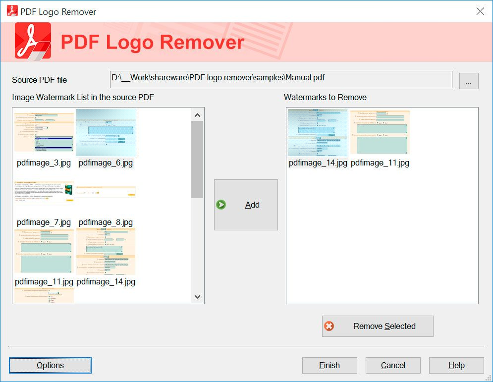 SoftOrbits PDF Logo Remover Screenshot.