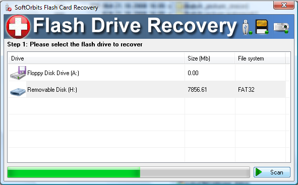 SoftOrbits Flash Recovery Screen shot
