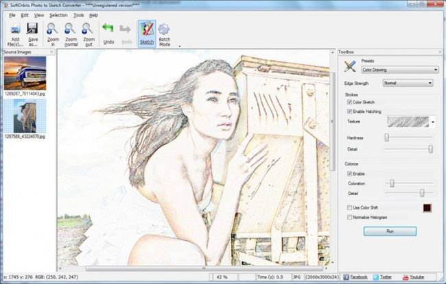 How to change photo to drawing softorbits Sketch software for windows