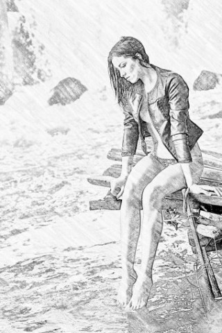 Convert photo to pencil sketch online free
