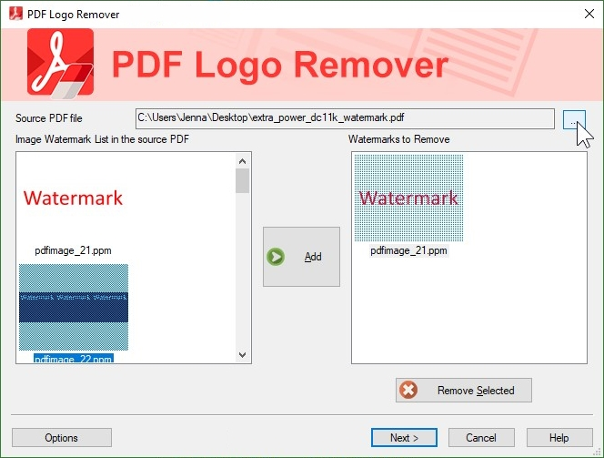 How to remove watermark from pdf file
