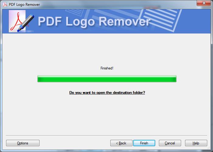 PDF removal tool