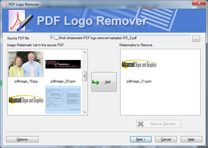 Remove logos with a special SoftOrbit's tool.